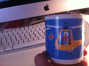 Helicopter mug