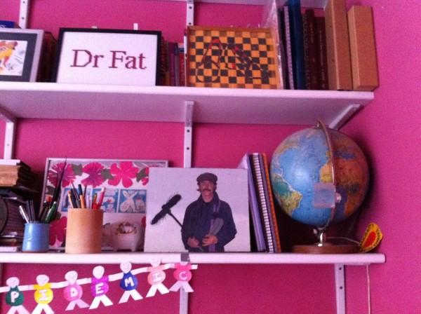 the sweeper on a shelf